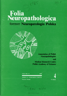 Folia Neuropathologica : former Neuropatologia Polska Vol.33 (1995) nr 4