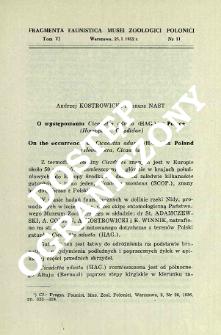 O występowaniu Cicadetta adusta (Hag.) w Polsce (Homoptera, Cicadidae) = On the occurrence of Cicadetta adusta (Hag.) in Poland (Homoptera, Cicadidae)