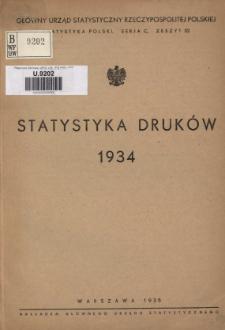 Statystyka Druków = Statistique des Imprimés 1934