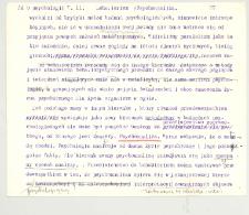 O psychologii. 2, V. 11. Psychoanaliza