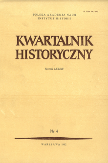 Kwartalnik Historyczny R. 89 nr 4 (1982), Title pages, Contents