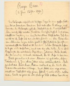 Roger Baco. (sic!) (11. Juni 1294-1894) : Sylwetka i filozofia Rogera Bacona