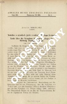 Notiz über die Nymphen der Eintagsfliegen der Gattung Torleya Lestage