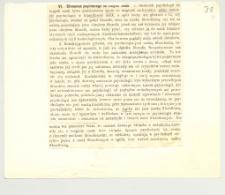 """O psychologii. 3, Rozdziały VI-VII i """"Literatura"""" z pracy K. Twardowskiego """"O psychologii, jej przedmiocie, zadaniach, metodzie, stosunku do innych nauk i o jej rozwoju"""""""