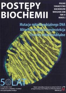 Postępy biochemii, Tom 54, Nr 2