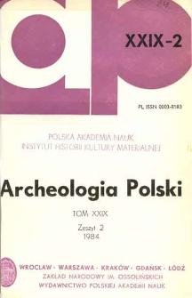 Archeologia Polski T. 29 (1984) Z. 2, Recenzje