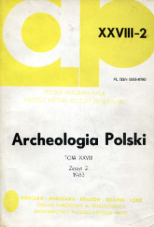 Archeologia Polski T. 28 (1983) Z. 2, Recenzje