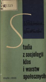 Studia z socjologii klas i warstw społecznych