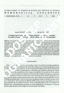 Complexité du message chimique cuticulaire chez les Fourmis: le modèle Camponotus vagus (Scop.) (Hymenoptera, Formicidae)