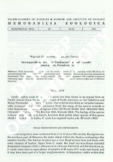 Intraspecific relations in Cardiocondyla nuda (Mayr) (Hymenoptrera, Formicidae)