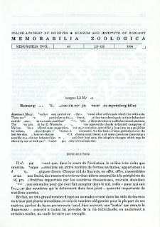 Remarques sur l'évolution du comportement des myrmécophiles