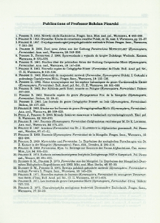 Publications of Professor Bohdan Pisarski
