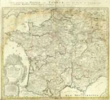 Gallia Postarvm geographice designata, in qua Cursus Postarum secundum Statum Anni 1738 recentissimum ex archetypo Iaillotiano repræsentantur = Carte Generale des Postes de France [...]