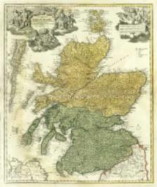 Magnæ Britanniæ Pars Septentrionalis qua Regnum Scotiæ in Suas partes et subjacentes insulas divisum Accurata Tabula