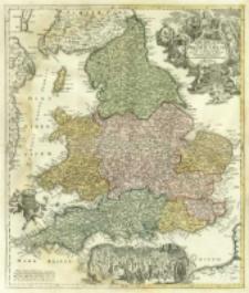 Magnæ Britanniae Pars Meridionalis in qua Regnum Angliæ Tam In Septem Antiqua Anglo-Saxonum Regna quam in omnes Hodiernas Regiones accurate divisum hic ostenditur