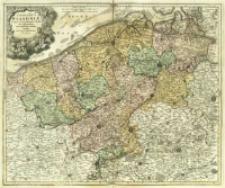 Comitatus Flandriæ in omnes ejusdem subjacentes Ditio[n]es cum adjacentibus accuratißime divisus.