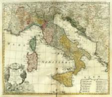 Italia in suos Statvs divisa et ex prototypo del'Isliano desumta Elementis insuper Geographiæ Schazianis accom[m]odata = Gli Stati d'Italia [...].