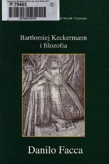 Bartłomiej Keckermann i filozofia