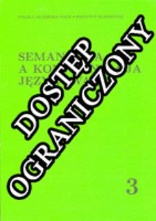 Semantyka a Konfrontacja Językowa. T. 3 (2006)