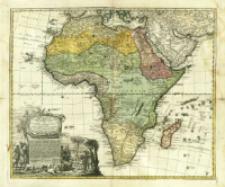 Africa : Secundum legitimas Projectionis Stereographicae regulas et juxta recentissimas relationes et observationes in subsidium vocatis quoque veterum Leonis Africani Nubiensis Geographi [...]
