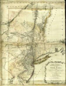 Mappa Geographica Provinciæ Novæ Eboraci ab Anglis New-York = Carte geographique des Provinces Neu-York et Neu-Jersey en Amerique