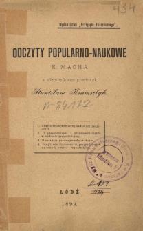 Odczyty popularno-naukowe E. Macha