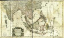 Carte des Indes Orientales : 1. feuille, dans la quelle on represente les Indes deça la Riviere de Ganges, le Golfe de Bengale, Siam, Malacca, Sumatra, 2de feuille, qui comprend les Isles de Sonde, l'Archipel des Philippines, & les Isles Moluques