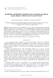 Identification and distribution of sibling species of Anopheles maculipennis complex (Diptera: Culicidae) in north-eastern Poland