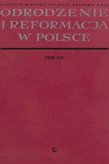 Materiały do dziejów kalwinizmu w Wielkim Księstwie Litewskim w XVII wieku