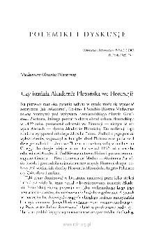 Czy istniała Akademia Platońska we Florencji?