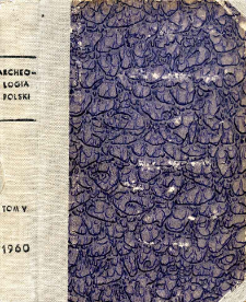 Archeologia Polski. Vol. 5 (1960) No 1, Reviews