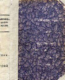 Archeologia Polski. Vol. 5 (1960) No 2, Reviews