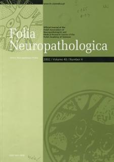 Folia Neuropathologica : former Neuropatologia Polska Vol.40 (2002)