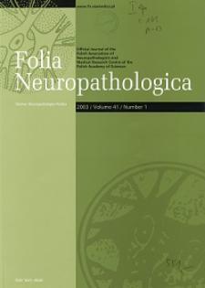 Folia Neuropathologica : former Neuropatologia Polska Vol.41 (2003) nr 1