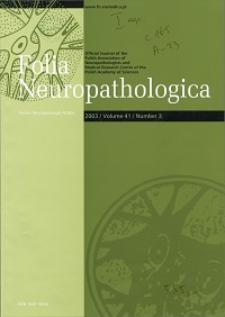 Folia Neuropathologica : former Neuropatologia Polska Vol.41 (2003) nr 3