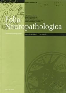 Folia Neuropathologica : former Neuropatologia Polska Vol.42 (2004) nr 3