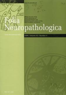 Folia Neuropathologica : former Neuropatologia Polska Vol.42 (2004) nr 4