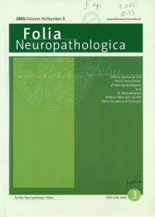 Folia Neuropathologica : former Neuropatologia Polska Vol.43 (2005) nr 3
