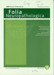 Folia Neuropathologica : former Neuropatologia Polska Vol.43 (2005) nr 4
