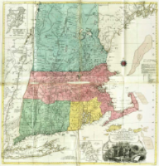 A Map of the most Inhabited part of New England containing the Provinces of Massachusets Bay and New Hampshire, with the Colonies of Conecticut, And Rhode Island, Divided into Counties and Townships