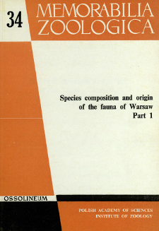 Species composition and origin of the fauna of Warsaw. P. 1 /- spis treści