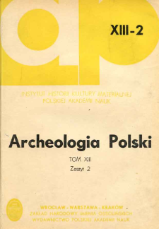 Archeologia Polski. T. 13 (1968) Z. 2, Recenzje i omówienia