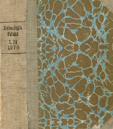 Archeologia Polski. T. 15 (1970) Z. 1, Recenzje i omówienia