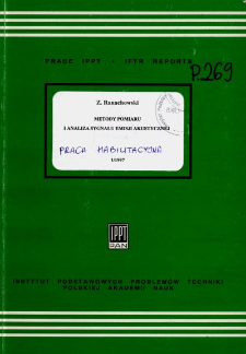Metody pomiaru i analiza sygnału emisji akustycznej
