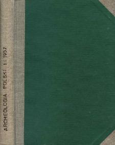 Archeologia Polski. Vol. 1 (1957). Reviews
