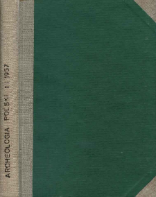 Archeologia Polski. Vol. 1 (1957). Reviews