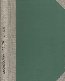 Archeologia Polski. Vol. 2 (1958) No 1, Reviews