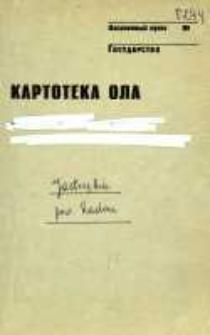Kartoteka Ogólnosłowiańskiego atlasu językowego (OLA); Jastrzębia (294)