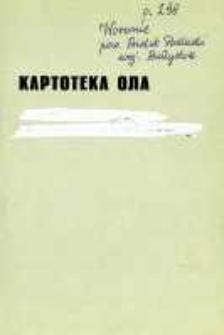 Kartoteka Ogólnosłowiańskiego atlasu językowego (OLA); Woronie (298)