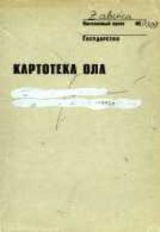 Kartoteka Ogólnosłowiańskiego atlasu językowego (OLA); Żabnica (309)